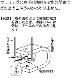 フレミング の 右手 の 法則